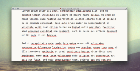 MultiMarkdown Composer 2 Editor Window with Lorem Ipsum Text